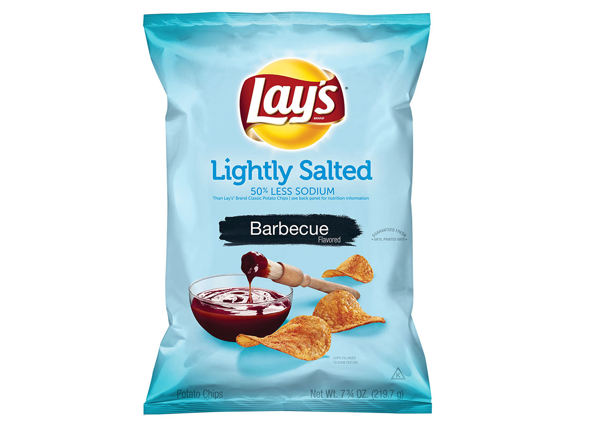 lays lightly salted barbecue