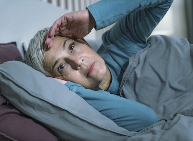 Senior Woman Suffering from Insomnia.