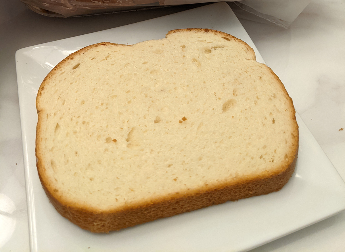 natures own white bread slice