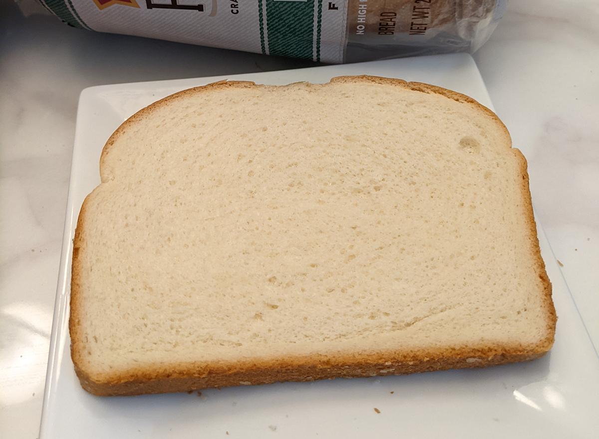 slice of pepperidge farm hearty white bread