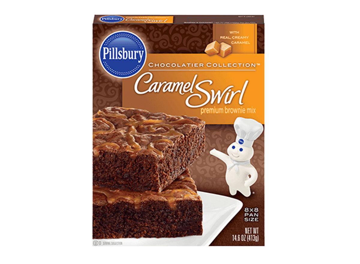 pillsbury caramel swirl brownies