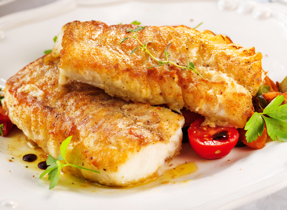 grilled pollock