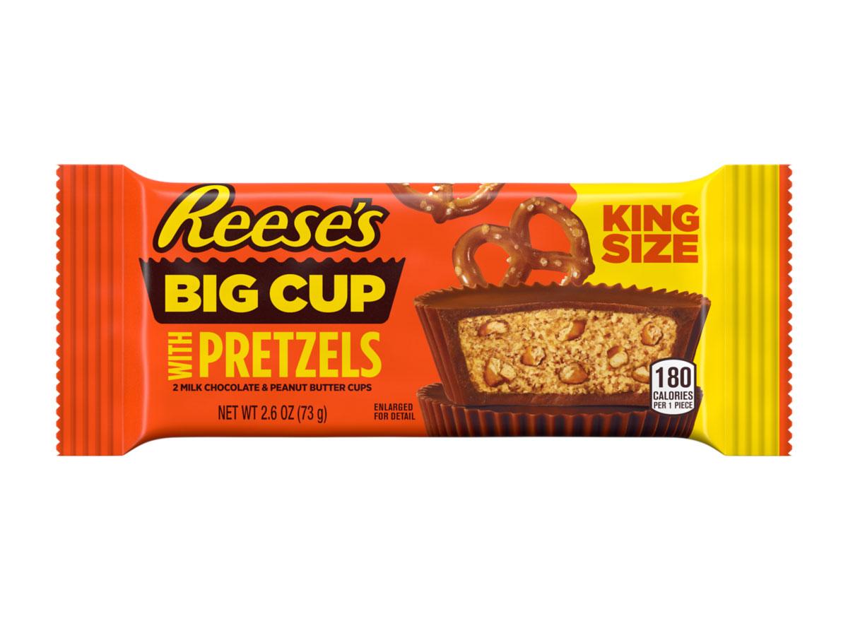 reeses big cup pretzels