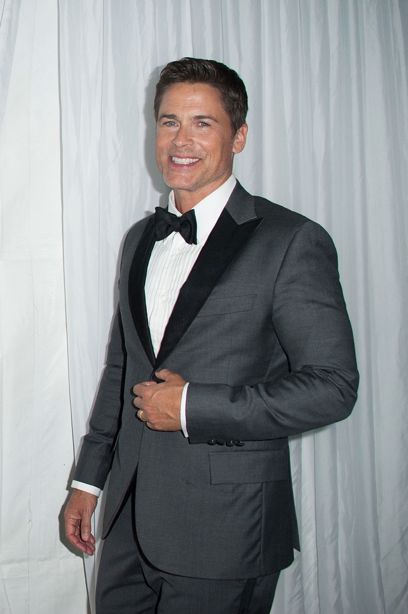 rob lowe in a gray suit
