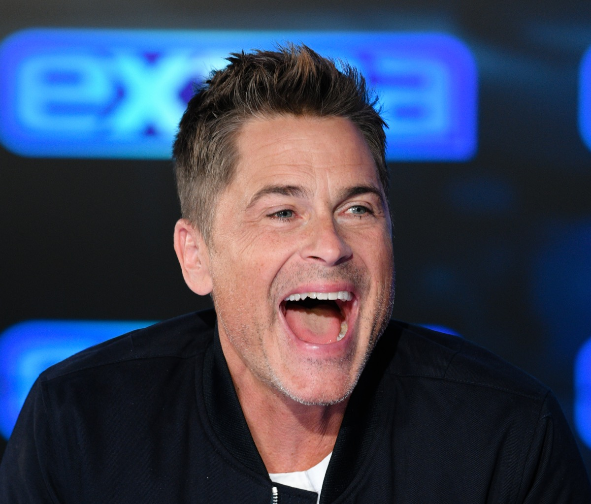 rob lowe laughing in interview