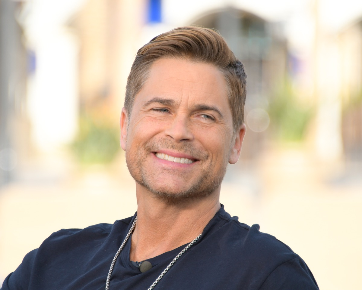 rob lowe smiling during interview