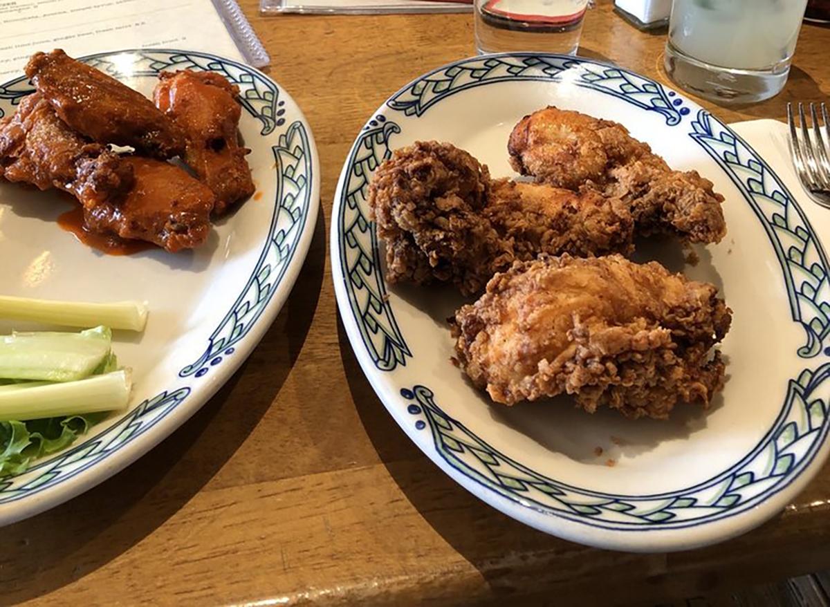 chicken tenders and wings