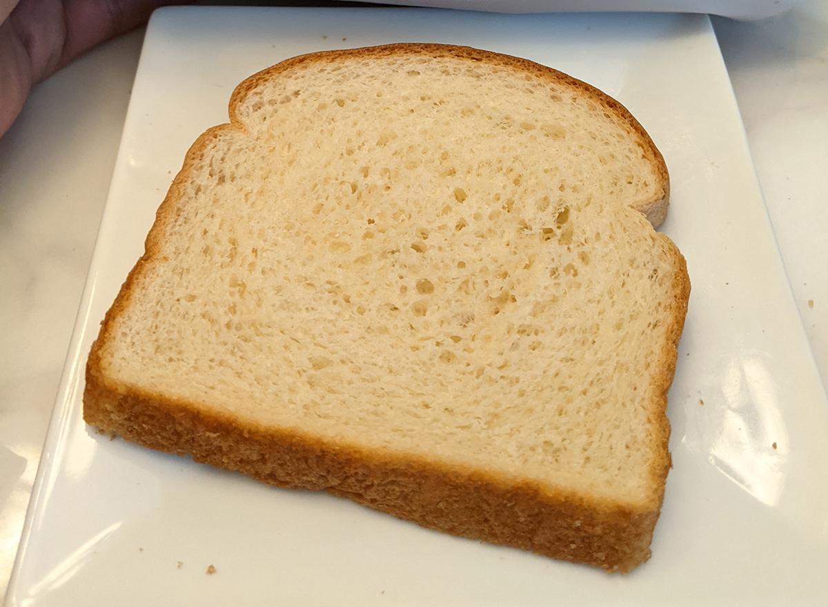 slice of sara lee white bread