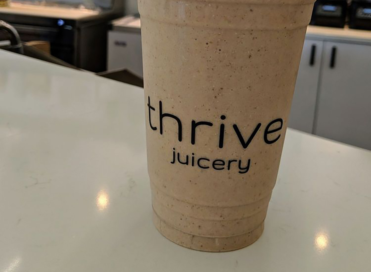 smoothie from thrive juicery