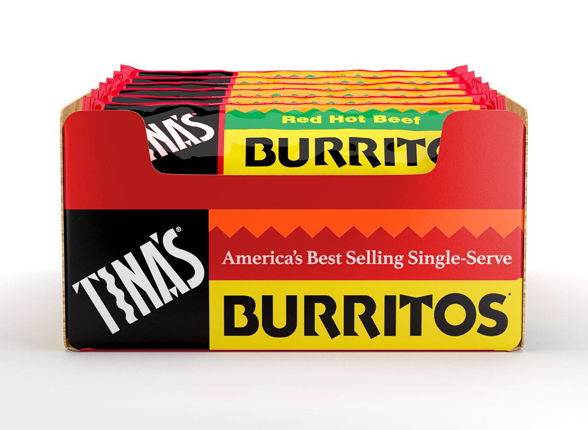 box of tinas frozen burritos