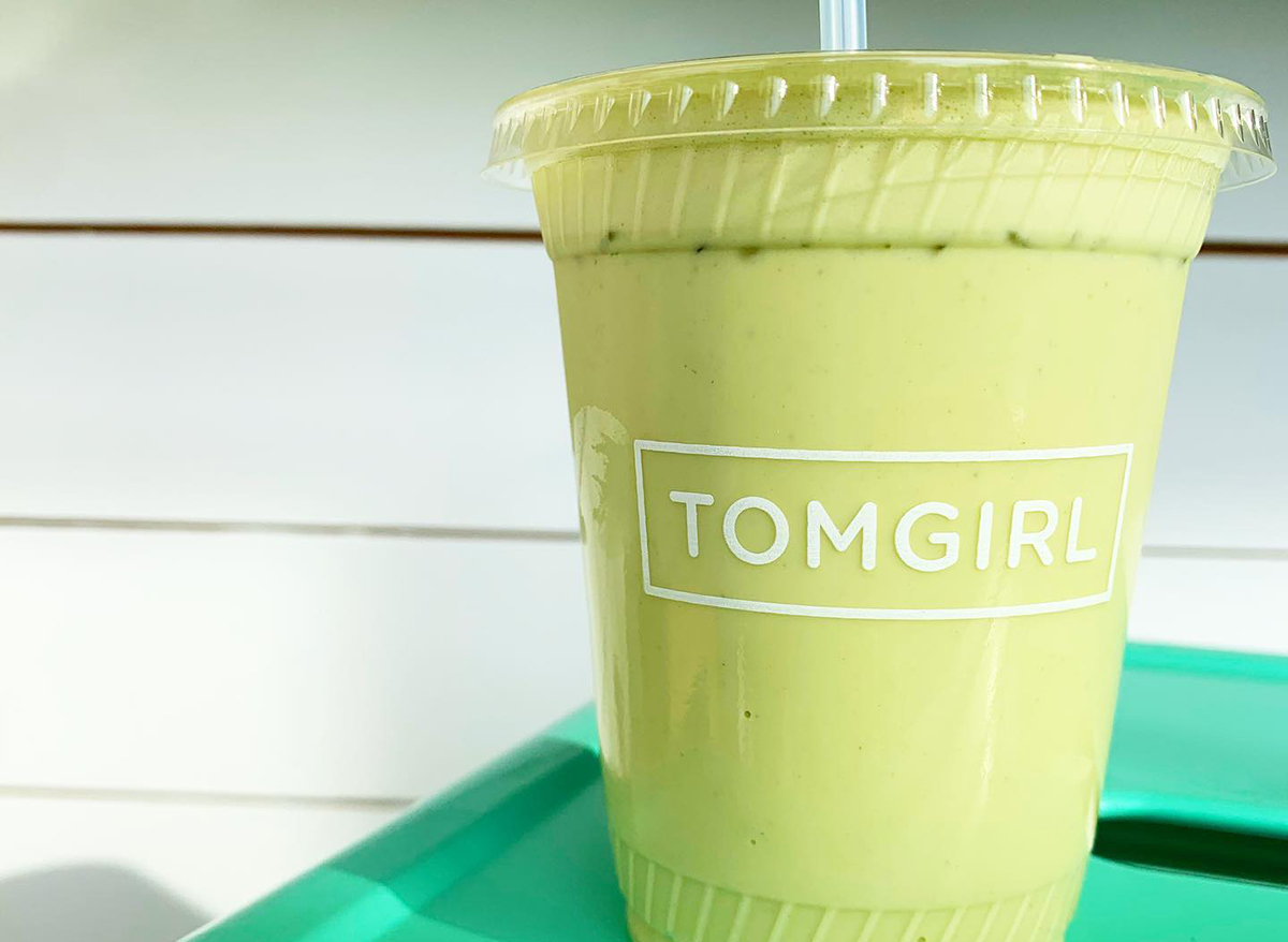 green smoothie from tomgirl kitchen