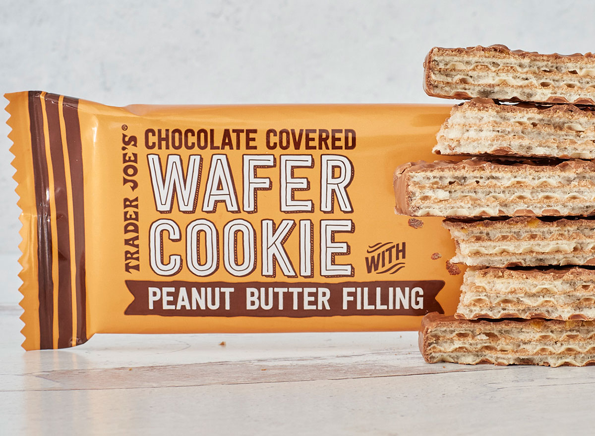 trader joes chocolate covered wafer cookie