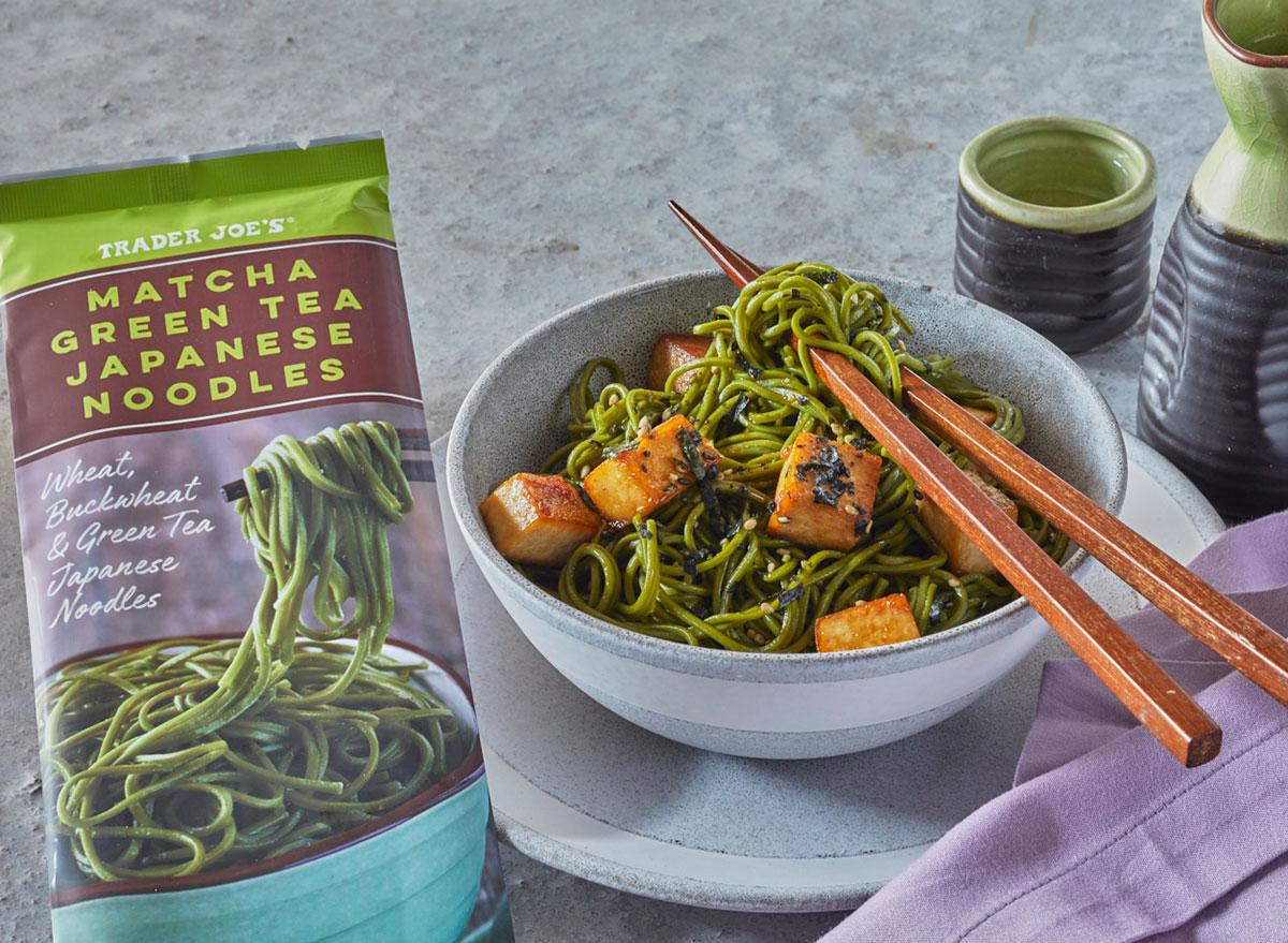 trader joes matcha green noodles