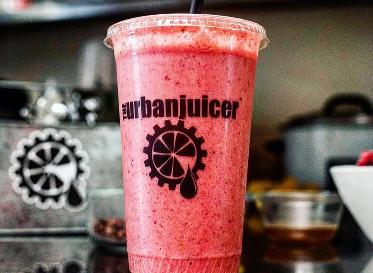 pink smoothie from urban juicer