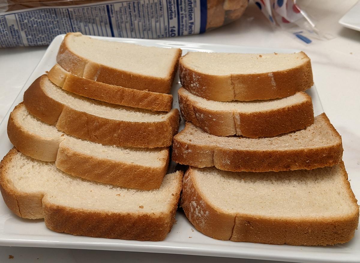 white bread slices