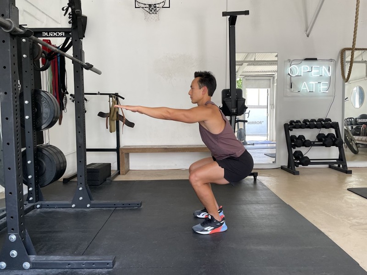1 bodyweight squat