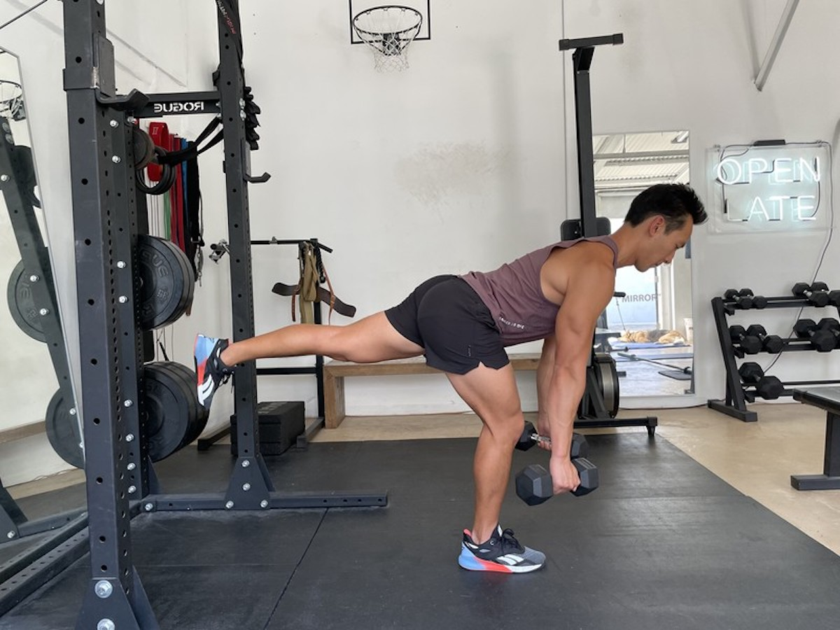 1 reverse lunge and single leg RDL