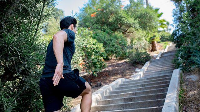 2 stairs walking workout