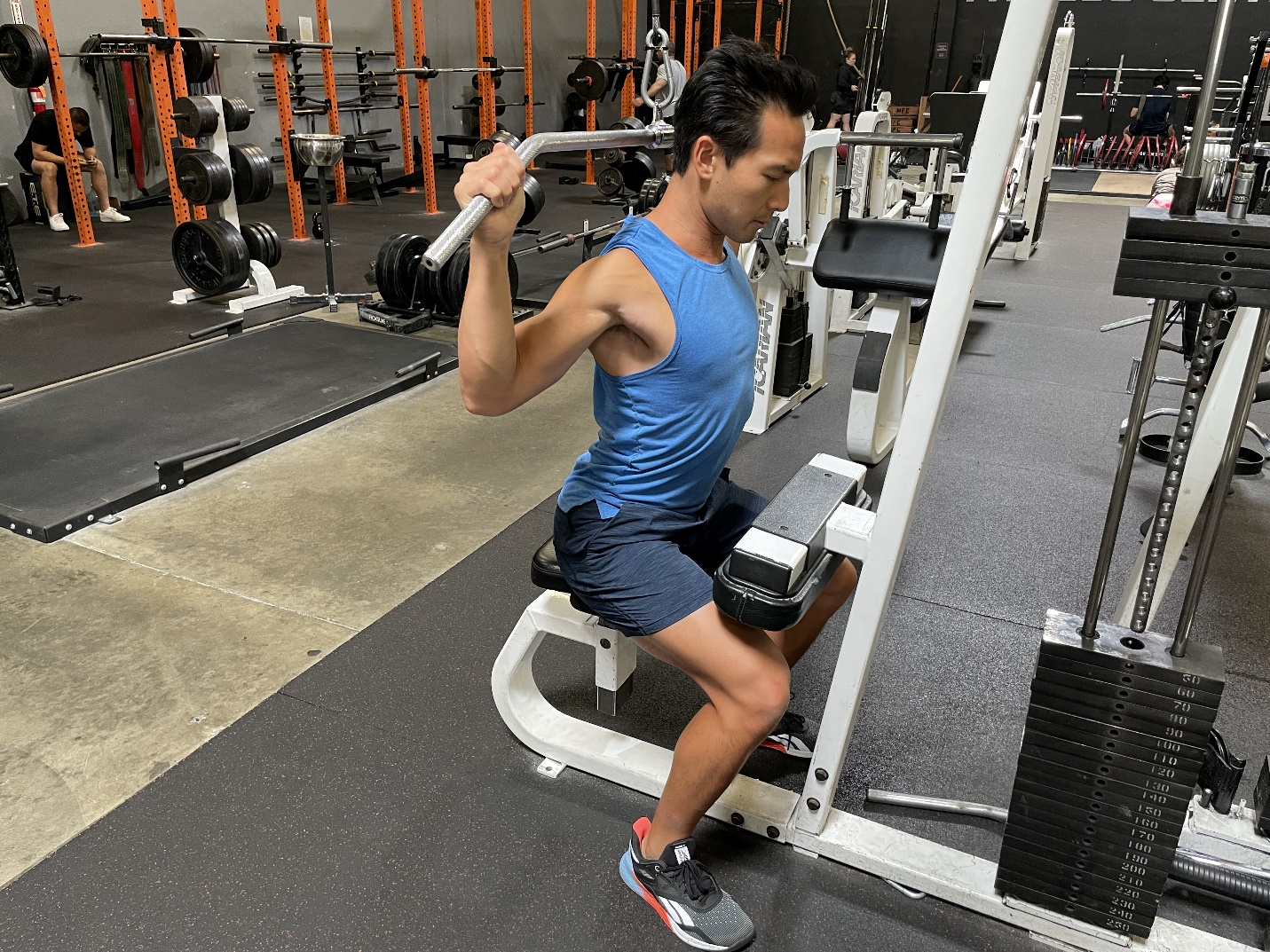3 behind the neck pulldowns