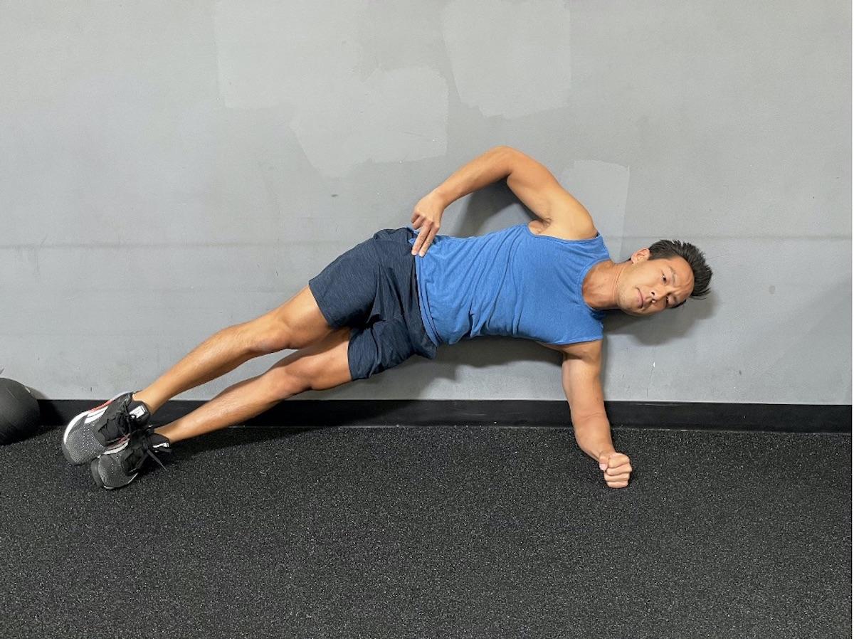 3 side plank hip lift