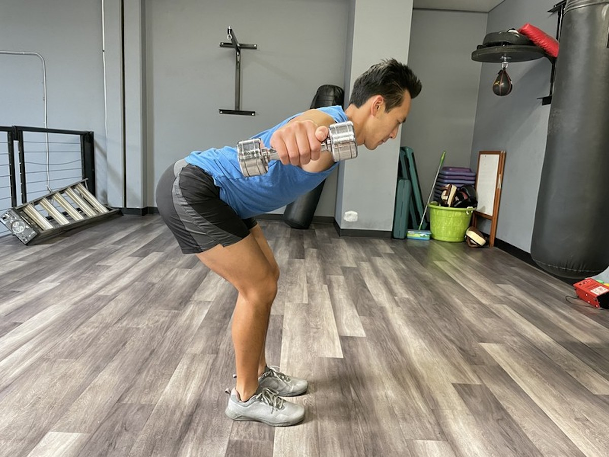 5 bent over DB lateral raise