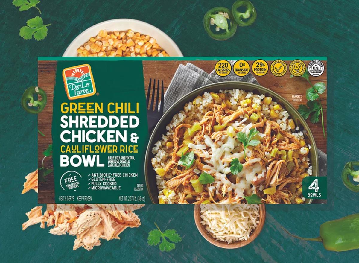 Costco Green Chili Shredded Chicken & Cauliflower Rice Bowl Recall