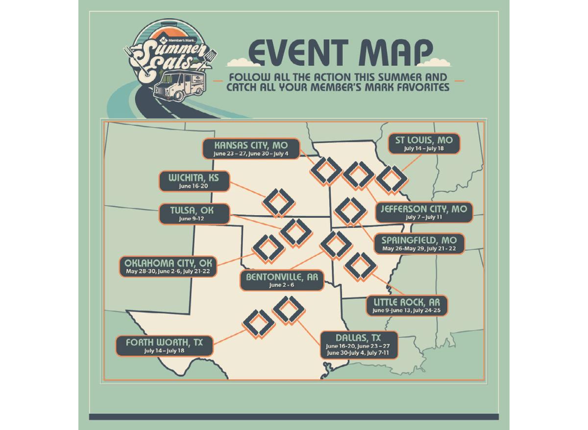 Sam's Club Food Truck Map