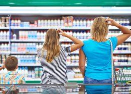 Yogurt aisle grocery store