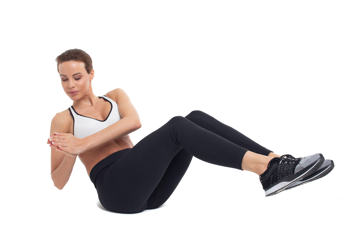 woman doing an abs exercise