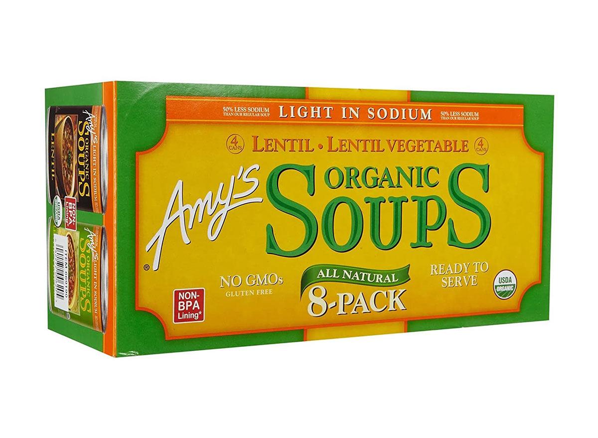 amys lentil soup 8 pack
