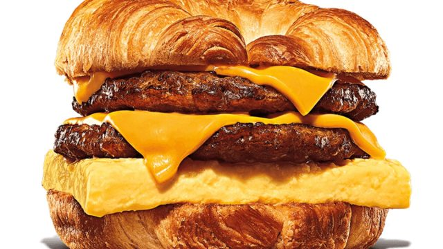 burger king double sausage egg cheese croissantwich