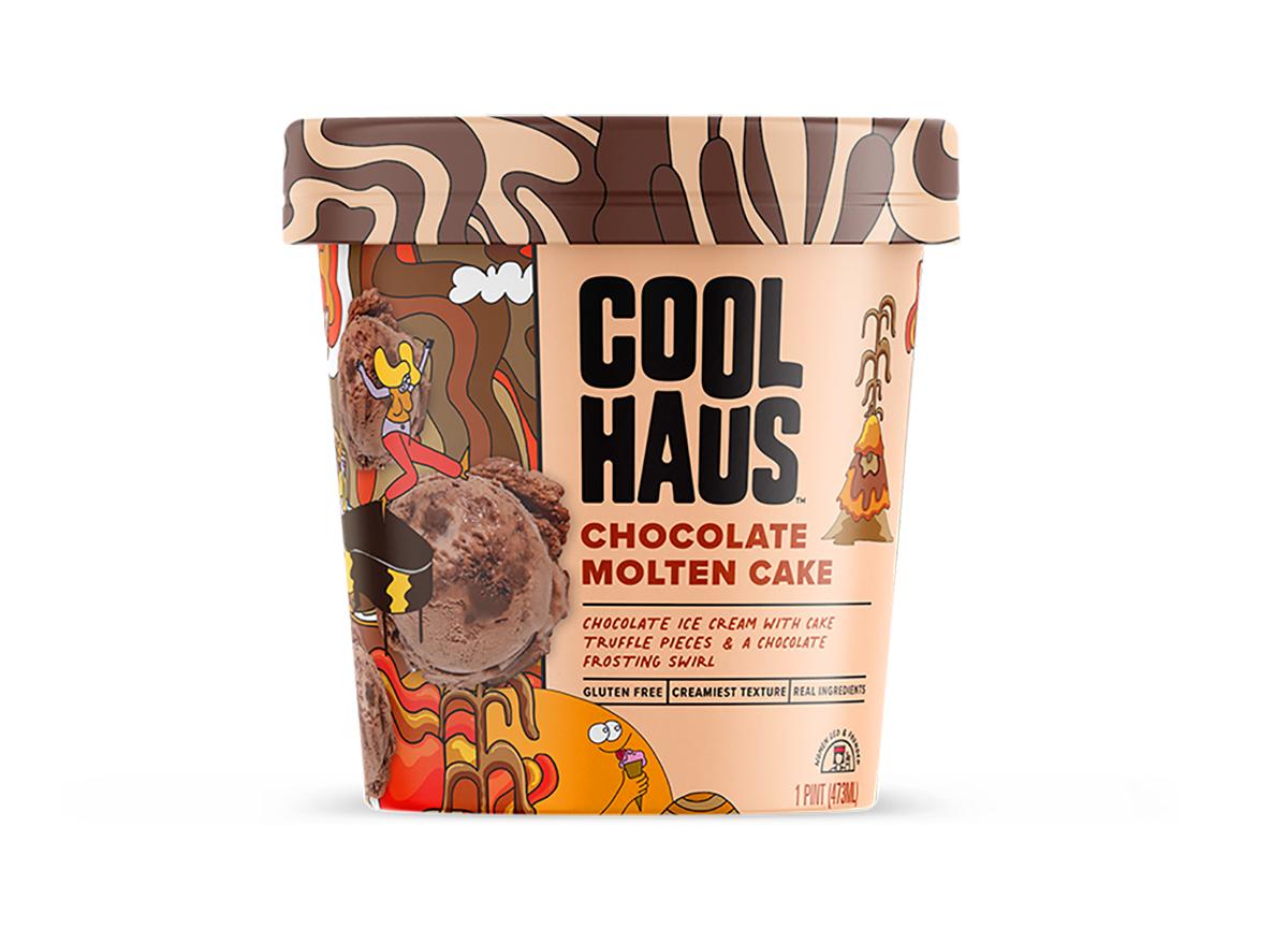 cool haus chocolate molten cake ice cream