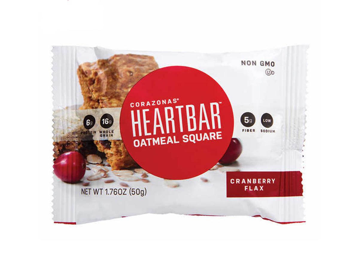 cranberry oat flax heart bar