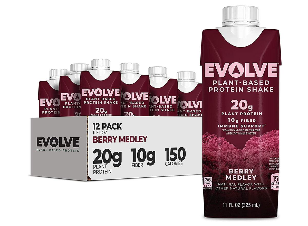 evolve plant based protein shake