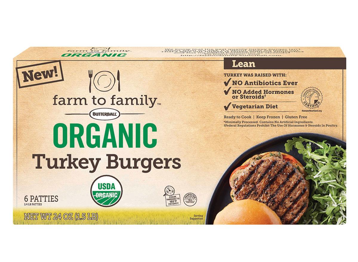 farm family turkey burgers