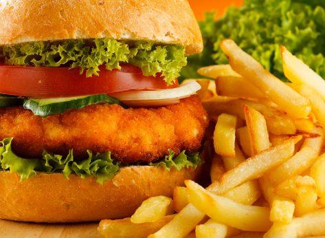 chicken sandwich and fries