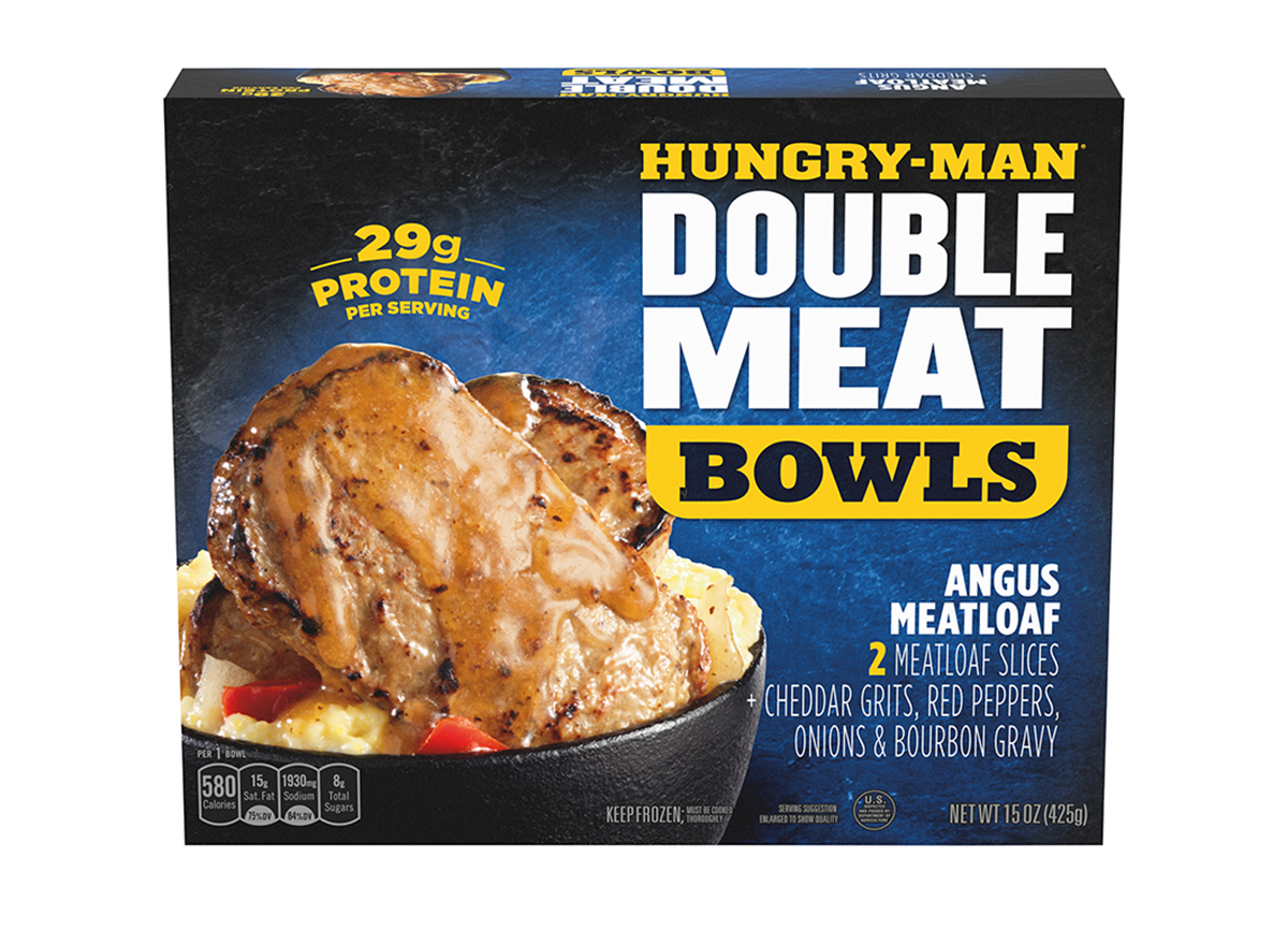 hungry man double meat bowls angus meatloaf bowl