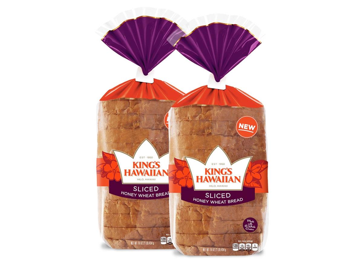 kings hawaiian honey wheat sliced bread