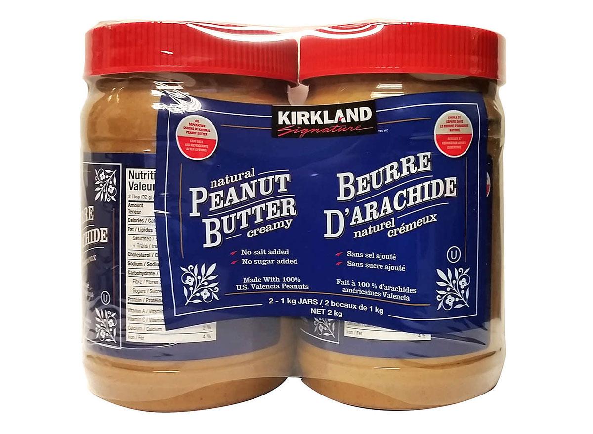 kirkland natural peanut butter