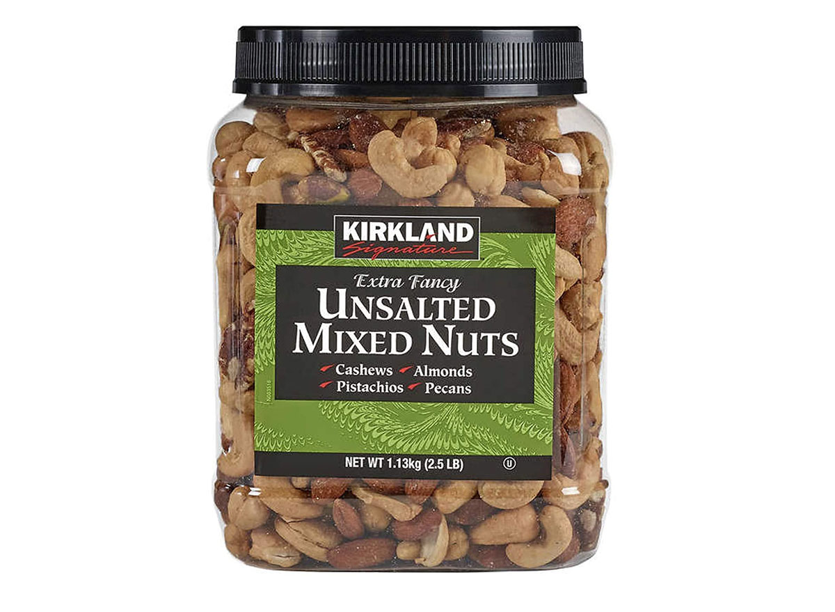 kirkland unsalted mixed nuts