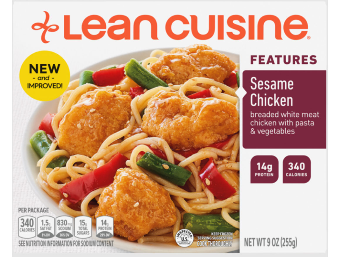 lean cuisine sesame chicken