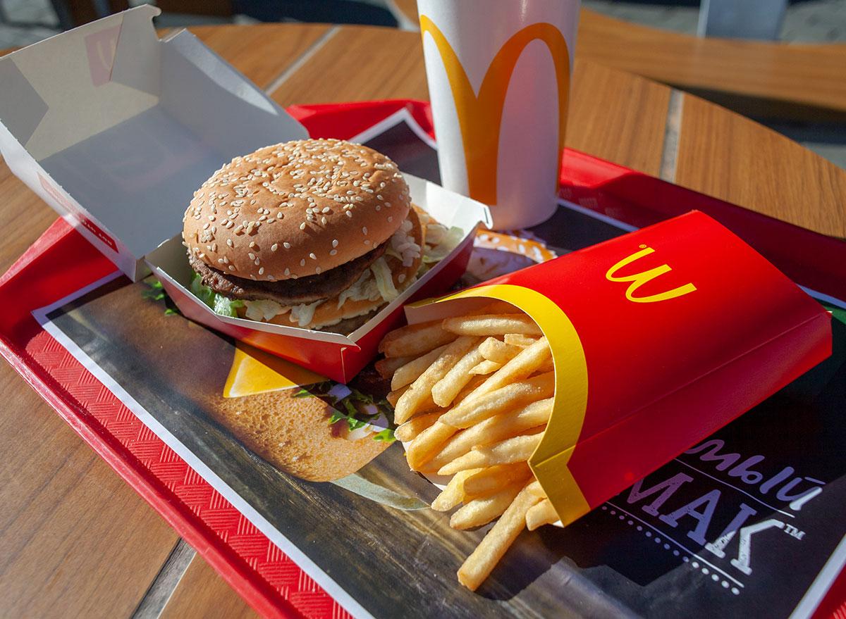 mcdonalds tray