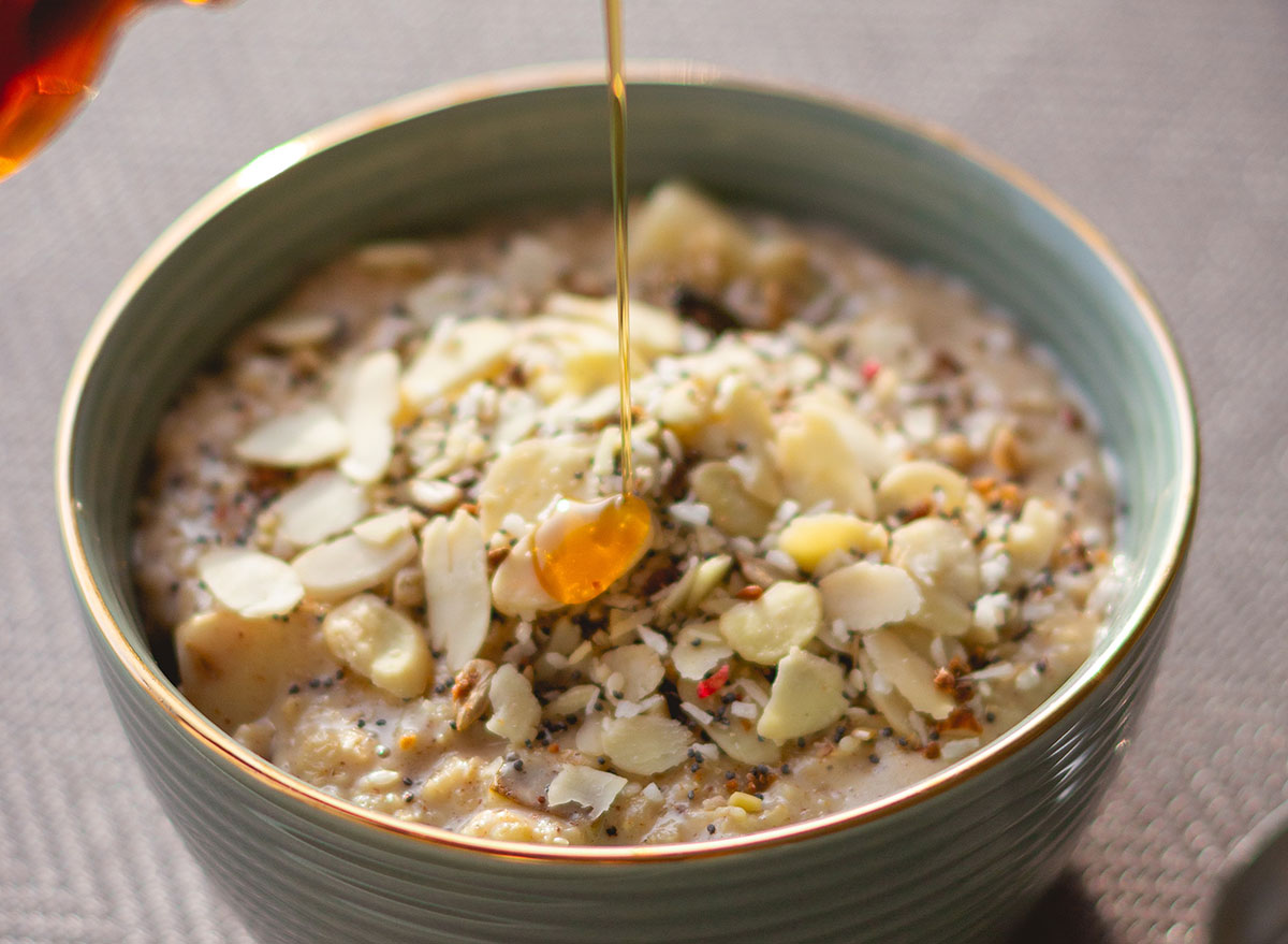 oatmeal maple syrup