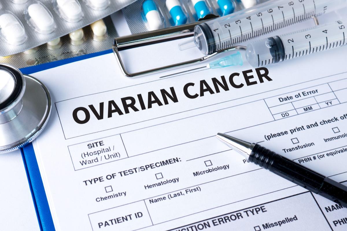 Ovarian cancer medical card.