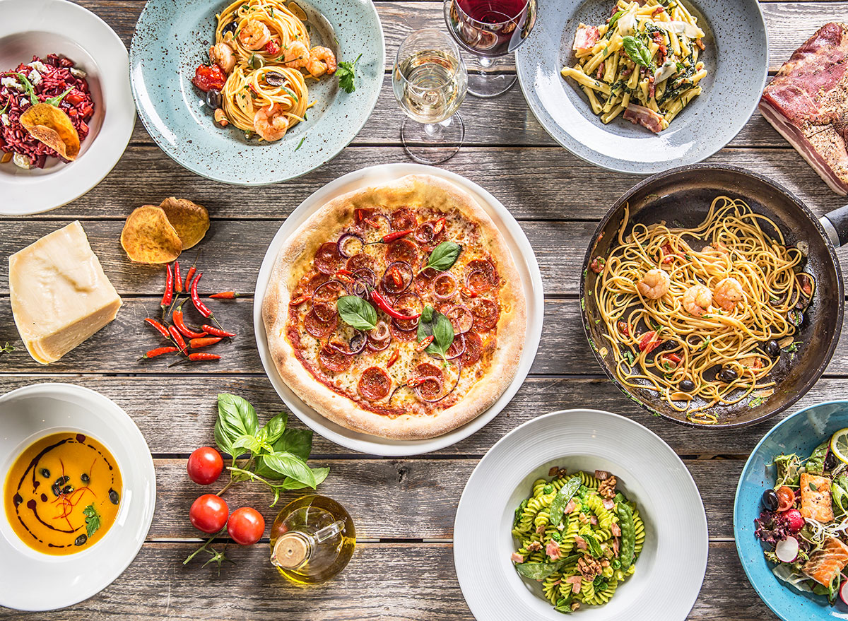 pasta and pizza