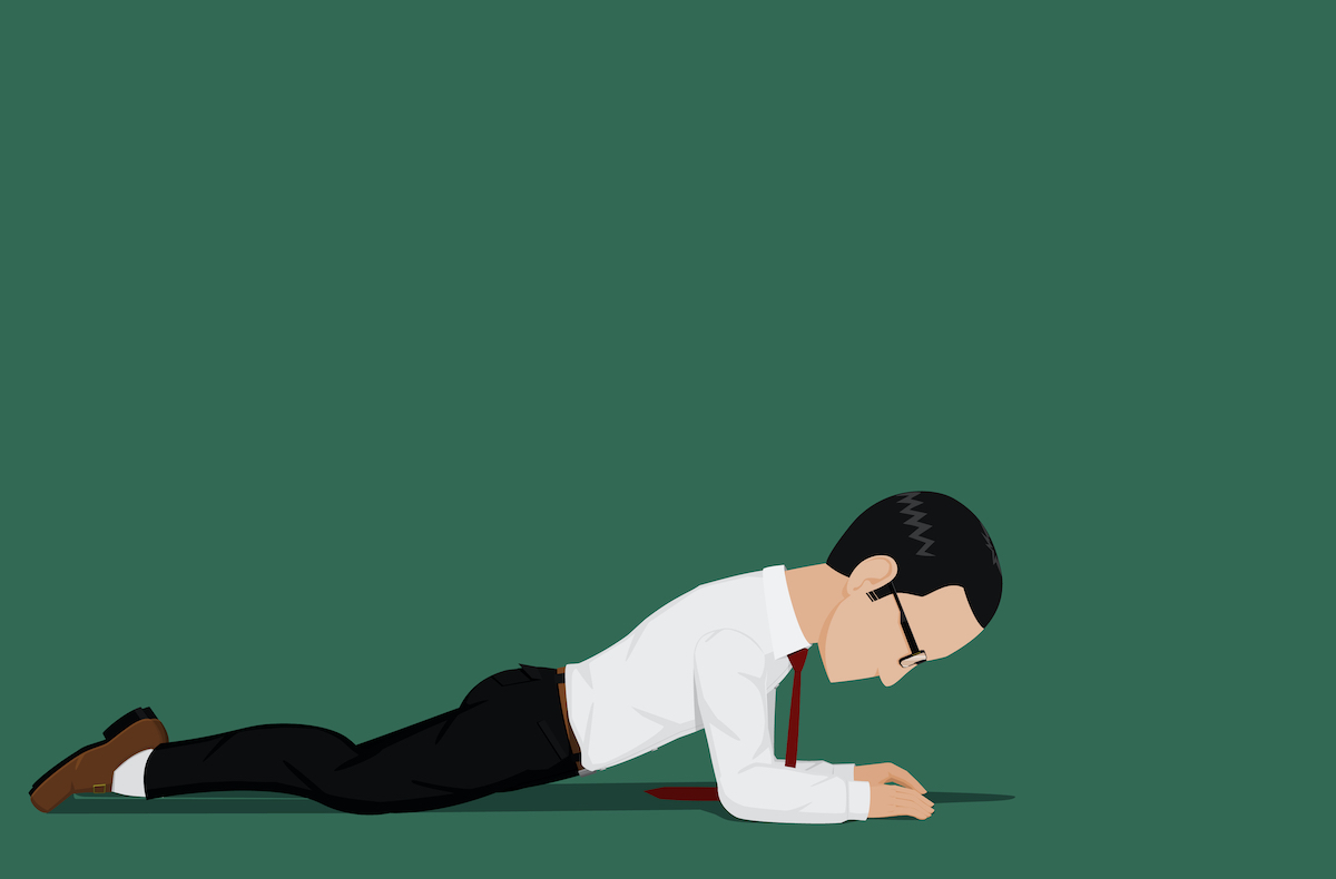 drawing of a man doing a prone stretch