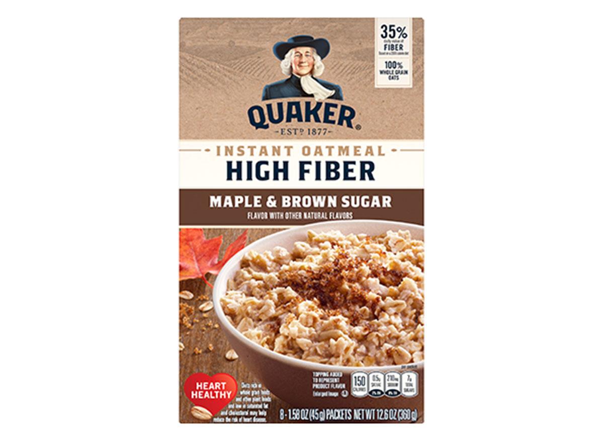 quaker maple brown sugar oatmeal