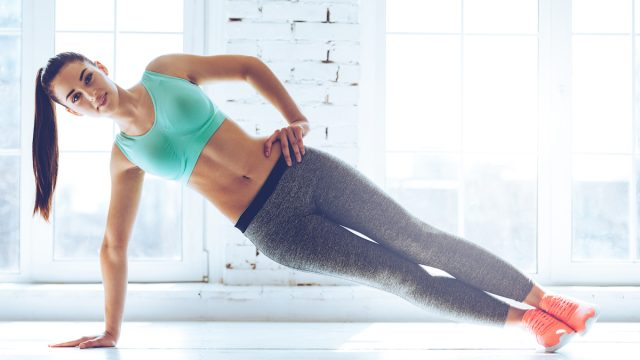 side plank with hip lift