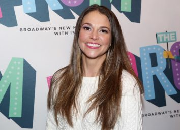 sutton foster smiling on red carpet