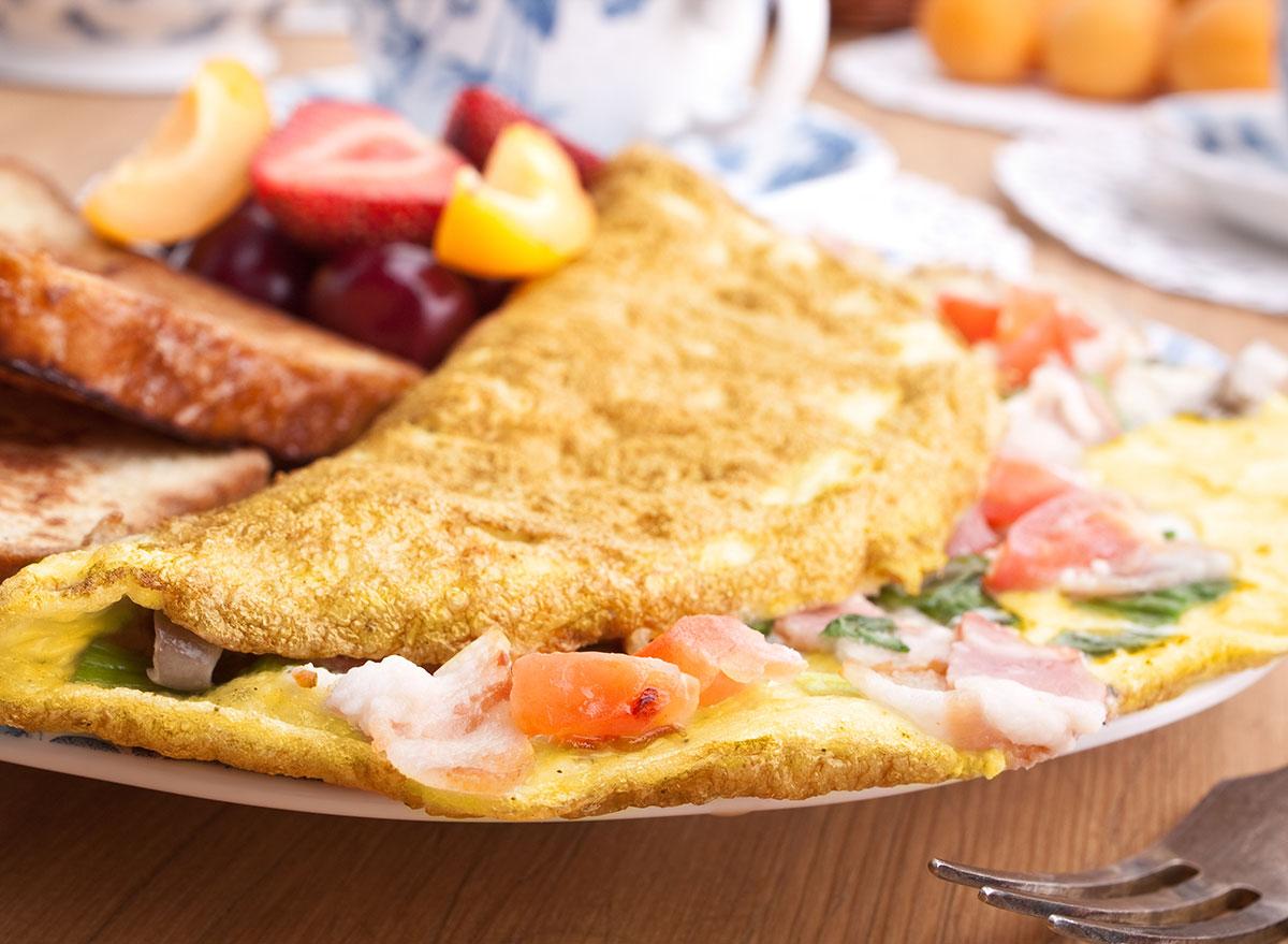 vegetable omelet fruit